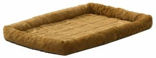 Лежак для кошек, для собак Midwest QuietTime Faux Fur Deluxe Bolster 61х46х8 см
