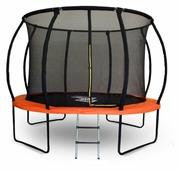 Каркасный батут Start Line Global 10FT с внутренней сеткой и лестницей 305х305 см