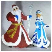 Фигурка Niki Дед Мороз и Снегурочка в пути (06444)