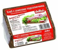 Delba Хлеб с семенами подсолнечника, ржаная мука, цельнозерновой, в нарезке 500 г