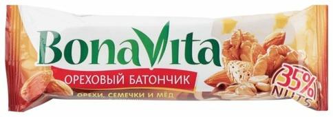Ореховый батончик Bona Vita В глазури Орехи семечки и мед