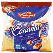 Конфеты Победа вкуса Соната вафельные с начинкой ореховый крем в сливочном шоколаде