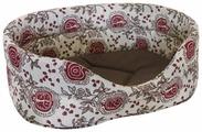 Лежак для собак ZOOexpress ЭкоЛён + мебельная ткань №4 53х38х18 см