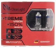 Лампа автомобильная галогенная ClearLight X-treme Vision MLH11XTV150 H11 55W 2 шт.