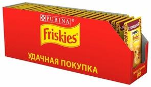 Корм для кошек Friskies с говядиной 85 г (кусочки в соусе)
