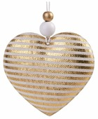 Елочная игрушка Magic Time Сердце в полоску (80205/80202)