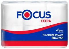Туалетная бумага Focus Extra белая двухслойная 5042265
