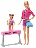 Набор кукол Barbie Спортивная карьера Тренер по гимнастике блондинка, 28 см и 10 см, FXP39