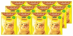 Корм для кошек Friskies с индейкой 85 г (кусочки в соусе)
