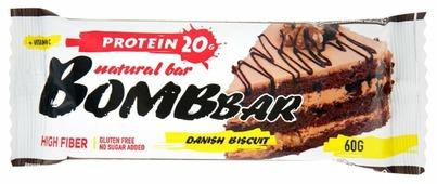 Протеиновый батончик Bombbar Датский бисквит, 60 г