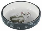 Миска TRIXIE 24784 для кошек короткомордых пород 300 мл
