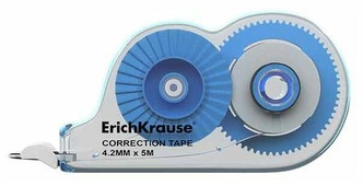 ErichKrause Корректирующая лента Techno white mini 4.2 мм х 5 м