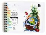 Скетчбук для маркеров Малевичъ Sketch Коктейль с попугаем 20 х 15 см, 75 г/м², 80 л.