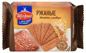 Хлебцы ржаные Щедрые тонкие 170 г