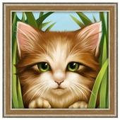 Алмазная живопись Набор алмазной вышивки Зеленоглазый котенок (АЖ-1640) 15х15 см