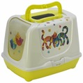 Туалет-домик для кошек Moderna Trendy Cat Friends Forever 57.4х44.8х42.7 см