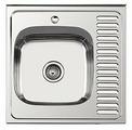 Накладная кухонная мойка Ledeme L96060-L 60х60см нержавеющая сталь