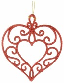 Елочная игрушка Magic Time Сердце (38741/38740)