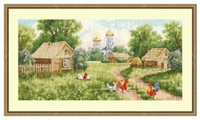 Золотое Руно Набор для вышивания Утро в деревне 37,9 х 18,8 (МД-009)