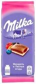 """Шоколад Milka """"Миндаль и Лесные ягоды"""" молочный с миндально-ягодной начинкой"""