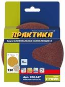 Шлифовальный круг на липучке ПРАКТИКА 038-647 120 мм 5 шт
