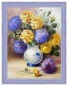 Алмазная живопись Набор алмазной вышивки Розы и гортензии (АЖ-1508) 30х40 см