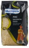 Рис Мистраль Басмати Gold пропаренный ароматный длиннозерный 500 г