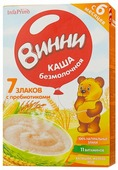 Каша Винни безмолочная 7 злаков с пребиотиками (с 6 месяцев) 200 г