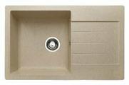 Врезная кухонная мойка Granicom G-018 79х49.5см искусственный мрамор