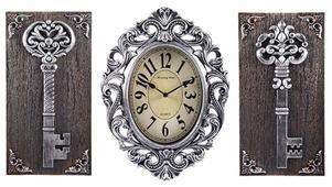 Часы настенные кварцевые Русские подарки с панно 122333/122334