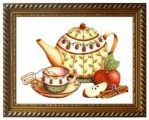 Алмазная живопись Набор алмазной вышивки Чай с корицей (АЖ-1429) 40х30 см