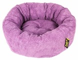Лежак для собак PRIDE Ватрушка Велюр (10011332) 53х53х20 см