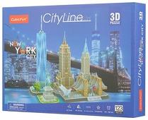 Пазл CubicFun Достопримечательности Нью-Йорка (MC255h), 123 дет.