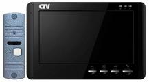 Комплектная дверная станция (домофон) CTV CTV-DP1700M синий (дверная станция) черный (домофон)
