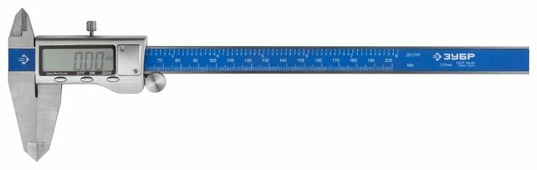 Цифровой штангенциркуль ЗУБР Эксперт 34463-200 200 мм, 0.01 мм