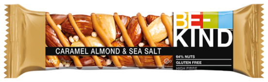Ореховый батончик Be-Kind Caramel Almond & Sea Salt, 40 г