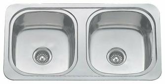 Интегрированная кухонная мойка MELANA MLN-8747-S 87х47см нержавеющая сталь