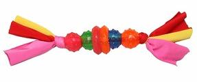 Игрушка для собак Грызлик Ам 4 шарика и 2 кольца на веревке