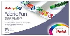 Pentel Пастель для ткани FabricFun 15 цветов