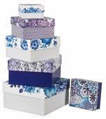 """Набор подарочных коробок Дарите счастье """"Узор"""" 6 шт."""