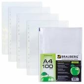 BRAUBERG Папка-файл перфорированная Яблоко, А4, 100 шт.
