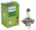 Лампа автомобильная галогенная Philips H4 LongLife EcoVision 12V 60/55W 1 шт.