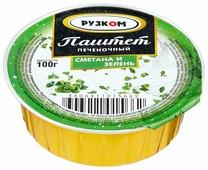 Паштет Рузком печёночный «Сметана и зелень» 100 г