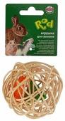 Игрушка для грызунов Fauna International Мяч Плетеный 8см ротанг