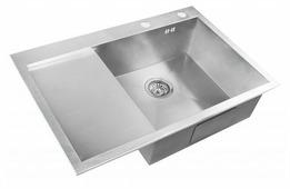 Врезная кухонная мойка ZorG INOX X-7851-R 78х51см нержавеющая сталь