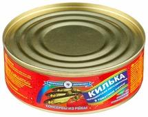 Морская Держава Килька неразделанная черноморская в томатном соусе, 240 г