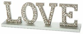 """Надпись настенная you'll love """"LOVE"""", металлическая, мдф"""