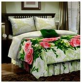 Постельное белье семейное Диана-Текс Розы 70х70 см, бязь