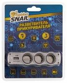 Разветвитель прикуривателя Golden Snail GS9104