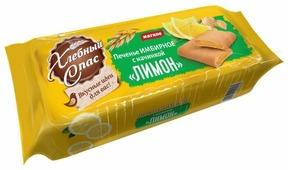 Печенье Хлебный Спас Имбирное с начинкой Лимон, 200 г
